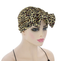 ANIMAL PRINT TURBAN W/ BOW