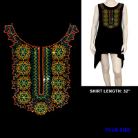 HOTFIX ETHNIC PRINT SHIRT PLUS SIZE