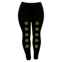 LEGGINGS W/ HOTFIX ETHNIC PRINT