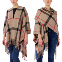 SOFT PLAID RUANA