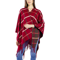 SOFT REVERSIBLE PLAID RUANA