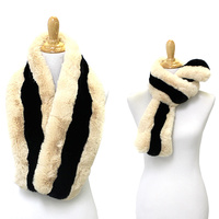 LONG 2 TONE FAUX FUR SCARF
