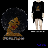 PLUS LONG SLEEVE BROWN SUGAR AFRO