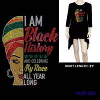 PLUS LONG SLEEVE BLACK HISTORY