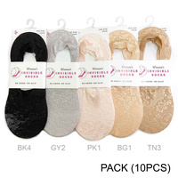 INVISIBLE SOCKS 10 PC ASST