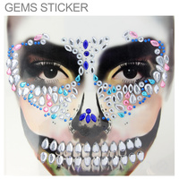 FACE RHINESTONE STICKER JEWELRY