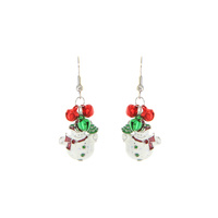 DANGLY SNOWMAN HOOK EARRING