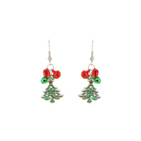 DANGLY X MAS TREE HOOK EARRING