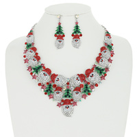 RHINESTONE SANTA 3 PC SET