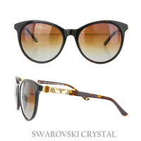BROWN SUNGLASS W/ SWAROVSKI CRYSTAL EMBELLISHED LEGS
