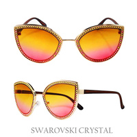 CAT EYE SUNGLASS W/ SWARVOSKI CRYSTALS