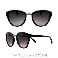 SUNGLASS W/ SWARVOSKI CRYSTAL BRIDGE AND TOP