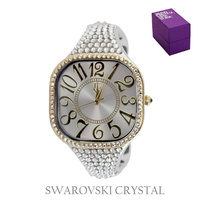 SWAROVSKI CRYSTAL BANGLE WATCH
