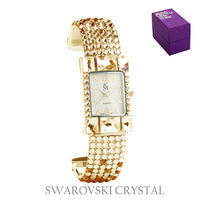 RND FACE SWAROVSKI CRYSTAL WATCH