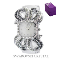 ELEGANT SWAROVSKI CRYSTAL BANGLE WATCH