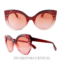 SUNGLASS W/ SWAROVSKI CRYSTAL TIPS